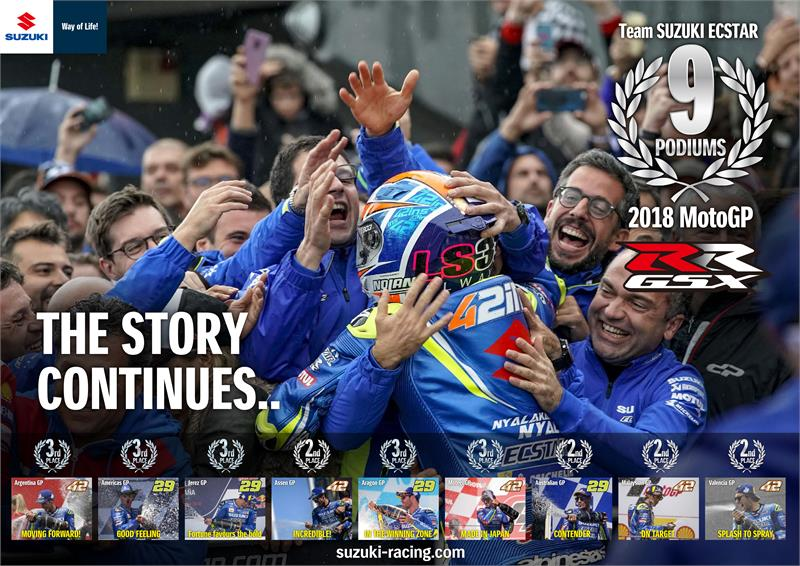 2018 Suzuki MotoGP 9 Podiums - Wallpaper