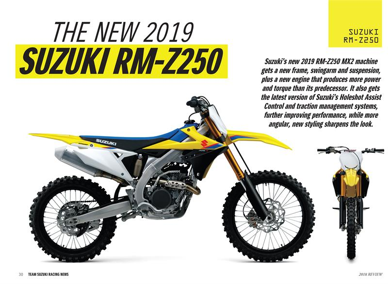 TSR 2018 Review-2019 RM-Z250 Tech